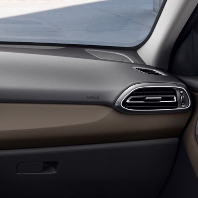 The new Hyundai i30 interior in ebony brown.